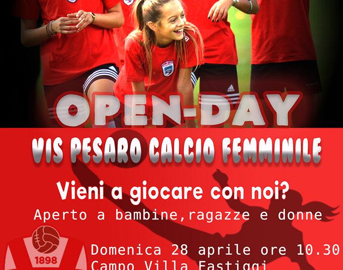 VIS PESARO CALCIO FEMMINILE, OPEN DAY E SPOT DEL CALCIO IN ROSA